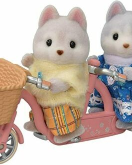 Epoch Calico Critters Sylvanian Families Husky Siblings Cycling Set DF-15 F/S