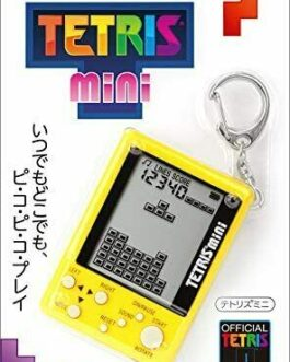 New Tetris Mini w/ Key Chain Yellow Tetris Officially Licensed Produ from Japan