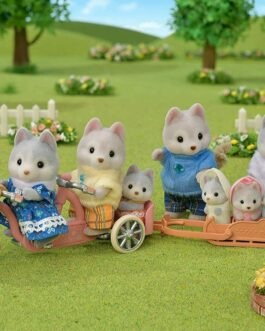 Sylvanian Family Doll Husky Family FS-41 Free shipping