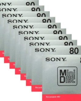 Official Sony MD Blank Minidisc 80 Minutes Recordable MD MDW80T 10 disk set Made in Japan