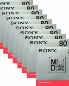 official Sony MD Bland Minidisc 80 Minites Recordable MD MDW80T 10 disk set