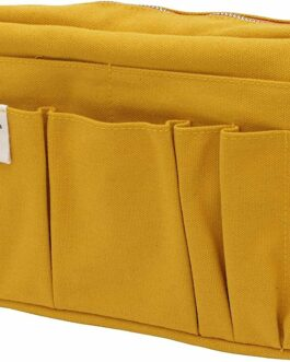 New DELFONICS Canvas Yellow Bag Inner Carrying Bag CA83 M-Size from Japan