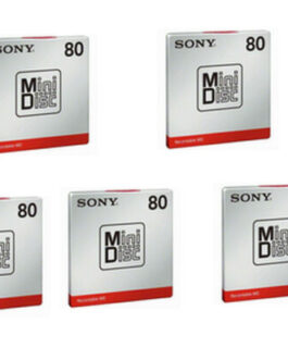 Japan made 5pcs Sony MD80 Blank Mini Disc 80 Minutes Recordable MD F/S