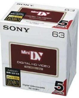 Genuine SONY 5DVM63HD Genuine Camcorder Tapes Sony Mini DV Minidv DVC Japan