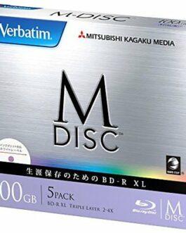 Mitsubishi Verbatim Bluray M-Disc BD-R XL 100GB 4x Speed 5Pack from Japan*